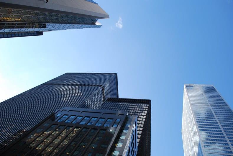 wieżowce - dzielnica finansowa
