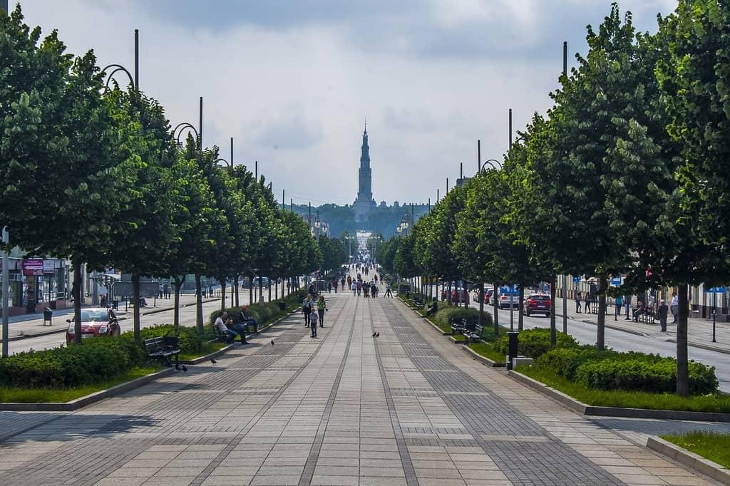 deptak w Częstochowie