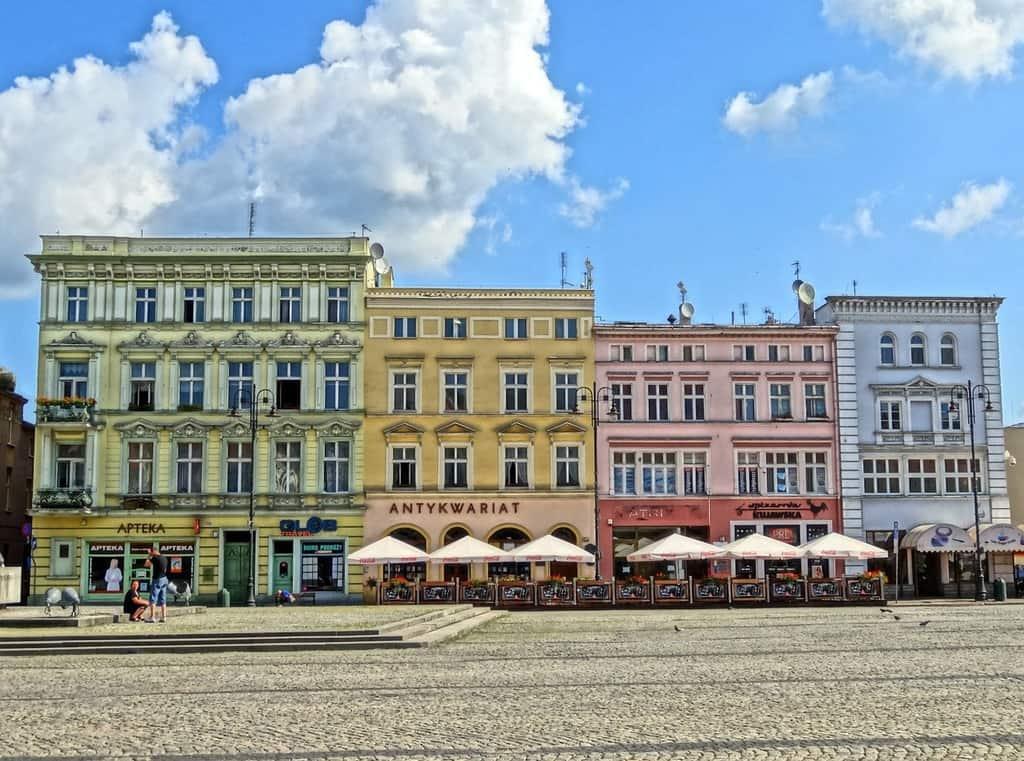 kamienice na rynku w Bydgoszczy